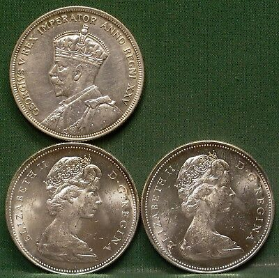 Lot of 3 Canada Silver Dollar XF/BU