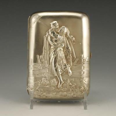Antique Russian ca 1900 silver cigarette case