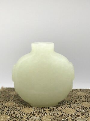 Chinese Antique White Jade Snuff Bottle