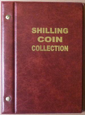 VST AUSTRALIAN 1/- COIN ALBUM SHILLING 1910 to 1963 with MINTAGES - RED Colour