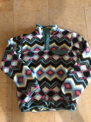 PATAGONIA KIDS Snap T  Pullover Fleece Sweater Jacket Multi Color Size XXL