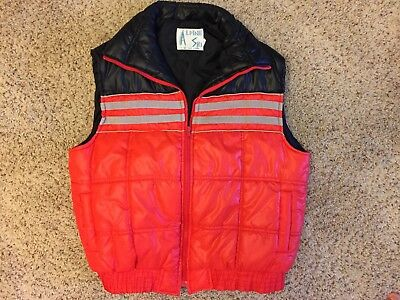 Vintage Alpine Ski Vest Red and Black Mens XL GREAT CONDITION