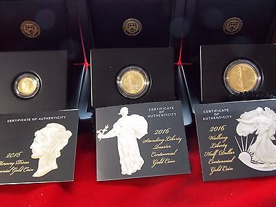 2016-W Gold Centennial 3 Coin Set  **please Read**