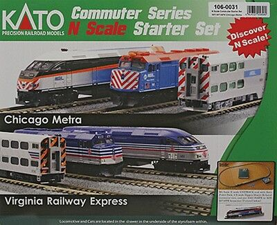 Kato-MP36PH Commuter Train Starter Set -- Metra - N