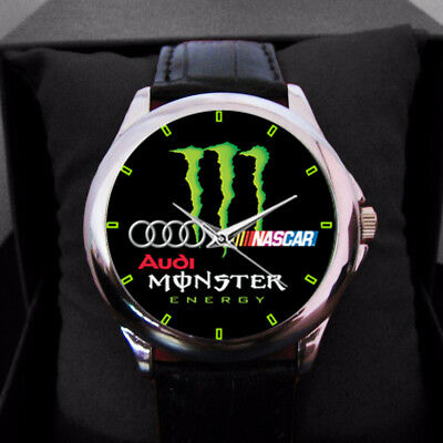 HOT RARE!!! The Monster Energy Logo Genuine Leather Limited Editions