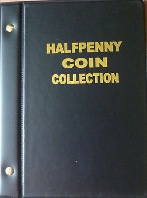 VST AUSTRALIAN HALF PENNY ½d COIN ALBUM 1910 to 1964 with DATES MINTAGES PRINTED
