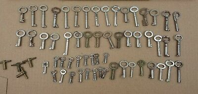 Vintage Lot of 57 Hollow Barrel Keys Crafts Steampunk