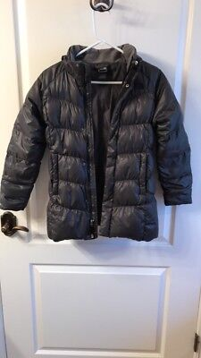 NORTH FACE girl's M 10/12, gray down puffer jacket, excellent condition