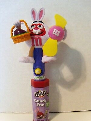 Coolectible M&M candy dispenser and fan with candy by Mars Rabbit candy included