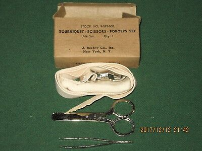 30F100%Orig WWII WW2 Tourniquet Box Kit For USMC Army First Aid Medic Bag Pouch