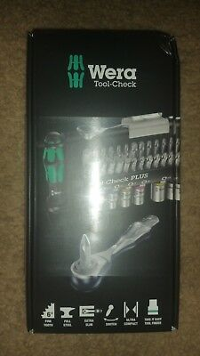 Wera 056490 Tool-Check Plus Bit Ratchet Set with Sockets - Metric
