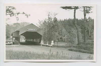 RPPC - Jackson, NH - Covered Bridge w/ Covered Walkway - Small Town Scene