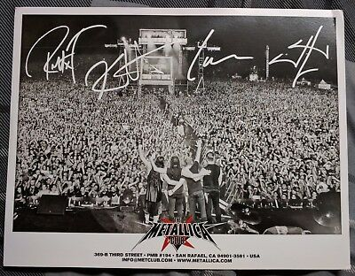 Metallica Met Club 2012 Promo 8X10  Photo And Fan Club Letter By Robert Trujillo