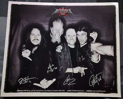 Metallica Met Club 2008 Promo 8X10  Photo And Fan Club Letter By Robert Trujillo