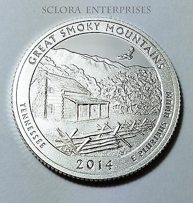 2014 S Great Smoky Mountains  *90% Silver Proof*  Quarter   **free Shipping**