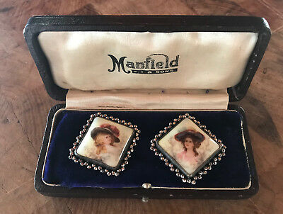 Antique Manfield and Sons Ceramic Buttons