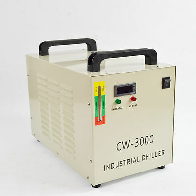 New Thermolysis Industrial Water Chiller CW-3000AG for 60/80W CO2 Glass Tube220V