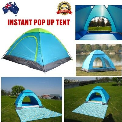 Waterproof 2 Person Lightweight Outdoor Tent Instant Pop Up Camping UV Shelter