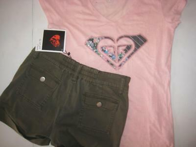 **NWT**The Lost Girl by Mink Pink**shorts &**ROXY** tshirt sz 12 girls