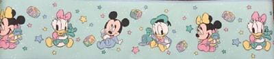 Disney Baby ABC Wallpaper Border Mickey Mouse Minnie Donald Daisy Duck Nursery
