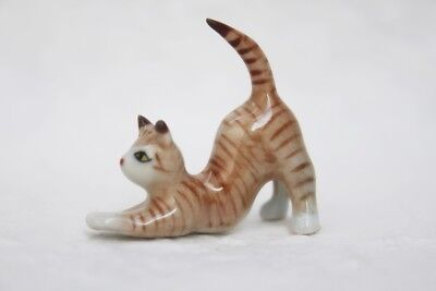 Animal Ceramic Cat Small Figurines Miniature Statue Collectible Decor Art Gift