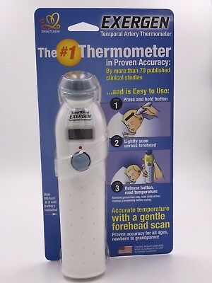 New Exergen Temporal Artery Thermometer TAT-2000C Home Model