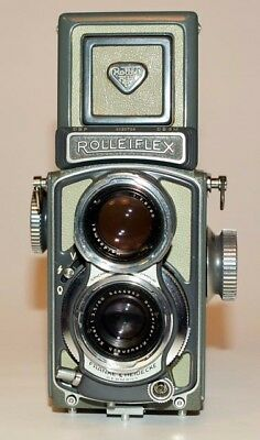 """Grey Baby Rollei"" 4x4 TLR Camera, Very Nice Condition"