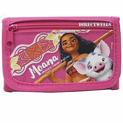 Moana Character Authentic Licensed Trifold Children Wallet (Pink)