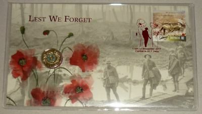 Australia Post 2017 Remembrance Day Lest We Forget Limited Edition $2 Coin PNC