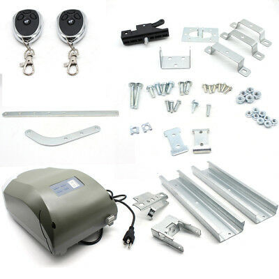 800N Chain Drive Garage Door Opener System With 2 Remotes+rails kit US STOCK
