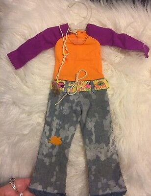 """Vintage Ideal Crissy ORIGINAL Outfit """"FUNKY FEATHERS"""" WITH RARE NECKLACE"""