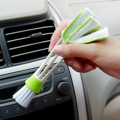 Car Vent Air-Condition Blind Cleaner Keyboard Duster Double Ended Cleaning Brush
