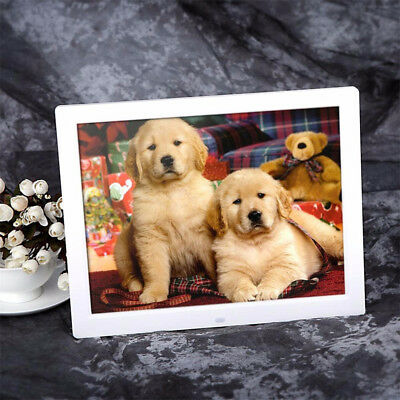 HD LCD Electronic Digital Photo Frame Picture Photography MP3 MP4 Player Black