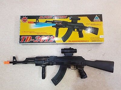 Plastic Toy Gun TD2012 Battery Operated Power Military Gun AK