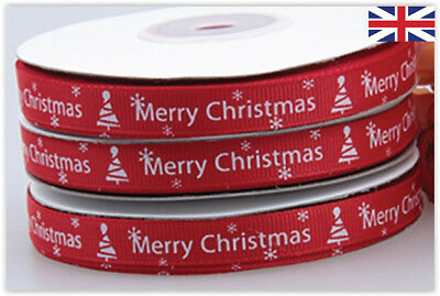 CHRISTMAS RIBBON 1 Roll (22M) DECORATION ACCESORIES GIFT WRAPPING CRAFTS WREATHS