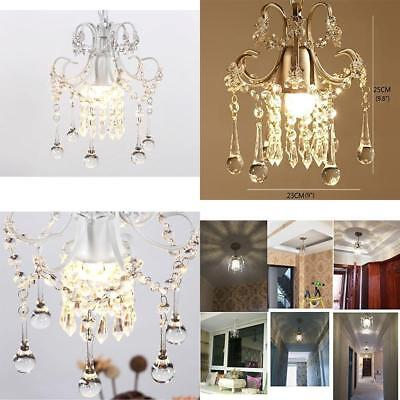 Mini Style Crystal Chandelier Small Room Pendant Light White Hallway 1 Light New
