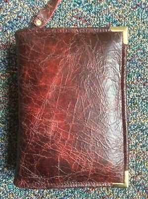 Genuine Burgundy and Red leather  bible cover for pocket NWT (nwtpkt-E)