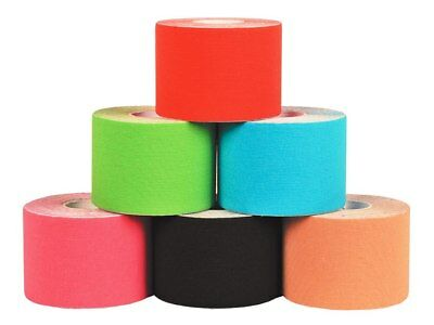 CEROTTO TAPING  TAPE NASTRO CEROTTO SPORT COLORATO 5 MT X 5 CM new