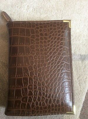 Genuine  Italian croc print leather  bible cover for standard NWT (DLbi12-E)