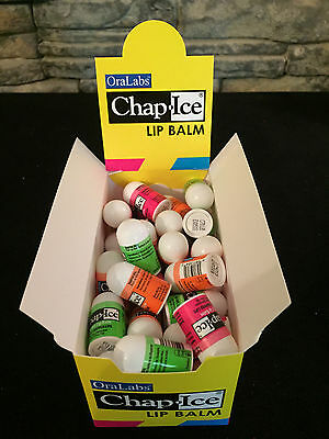 50 pcs Assorted Mini Lip Balm Chap Ice Bulk Cherry, Kiwi Lime, Orange Bulk Lot