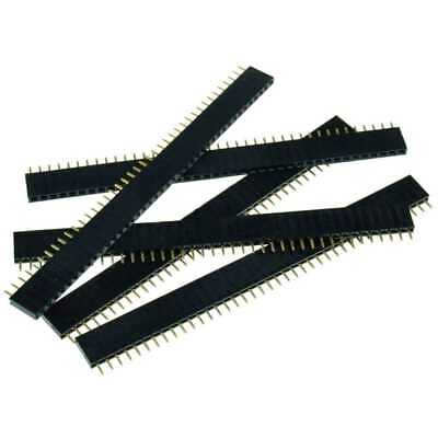 5pz Strip Line Connettori 40 pin passo 2,54mm Femmina Circuito Stampato Arduino