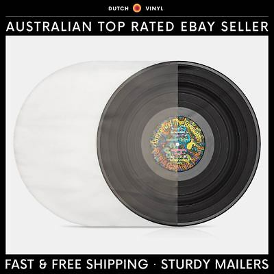 "50 X Plastic Record Inner Sleeves – Round Bottom 90 Micron for 12"" Vinyl LP's"