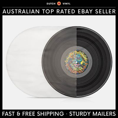 "100 X Plastic Record Inner Sleeves – Round Bottom 90 Micron for 12"" Vinyl LP's"