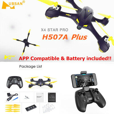 Hubsan H507A X4 Pro Wifi FPV RC Quadcopter APP Driven Drone 720P Waypoints GPS