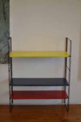 Vintage 1960s good condition Tomado metal mid century book shelf