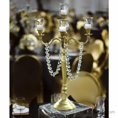 kerzenst nder gold ros messing 120 cm candelabra. Black Bedroom Furniture Sets. Home Design Ideas