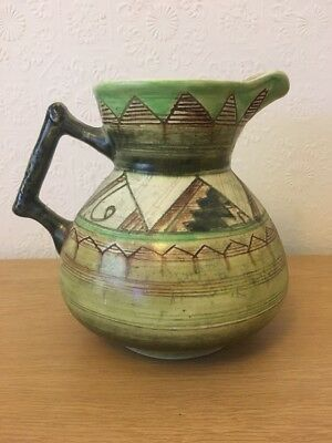 Art Deco Shorter Pottery Jug