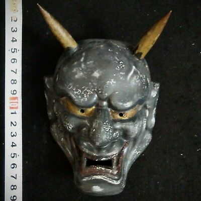 Japanese mask of Noh Hannya Kabuki Oni Clay