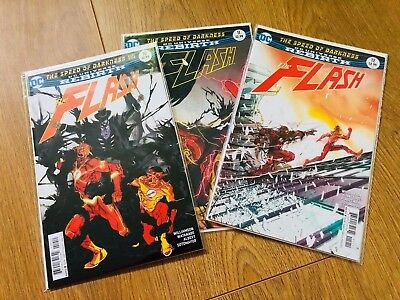 Flash #10 #11 #12 - The Speed of Darkness Complete - DC Rebirth - 1st print - NM