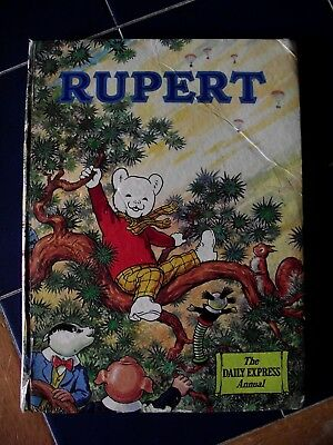 Rupert annual 1973. Bit tatty / dented but nice reading copy. Unpasted endpapers